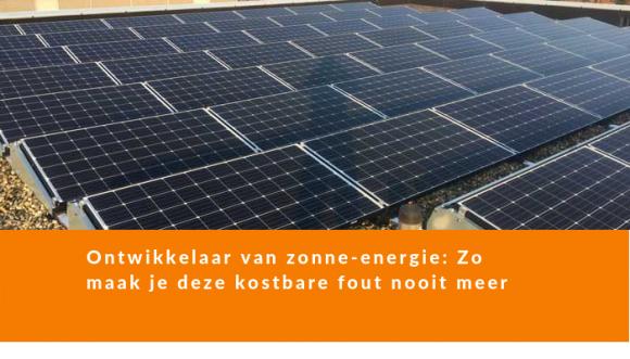 ontwikkelaar zonne-energie